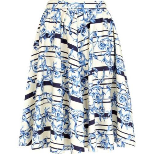 floral full midi length skirt_River Island