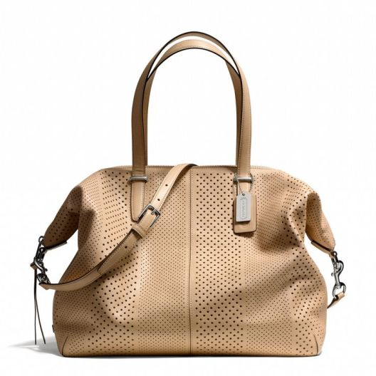 Coach_Bleeker Large Cooper Satchel_perforated leather